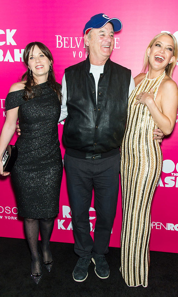 October 19: Zooey Deschanel, Bill Murray and Kate Hudson were all laughs during the 'Rock the Kasbah' premiere in New York City. 