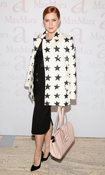 October 19: Work it! Amy Adams celebrated the launch of the new Max Mara 'A' bag in NYC.