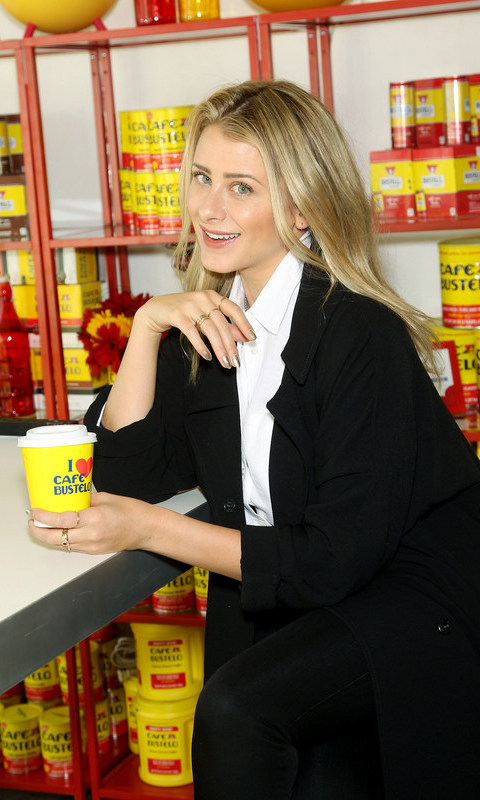 October 21: Lo Bosworth stopped by the Café Bustelo Pop-Up Café Experience in NYC for a morning pick me up.