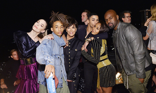 October 23: Jaime King, Jaden Smith, Kris Jenner, birthday boy Olivier Rousteing, Jada Pinkett Smith and Corey Gamble all had fun at his Beats party in L.A.