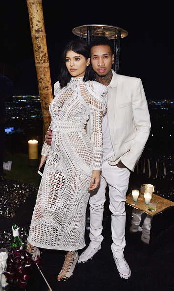 October 23: Kylie Jenner and Tyga were a matching duo at Olivier Rousteing's 30th birthday where they listened to songs by DJ M.O.S. and DJ Kiss.