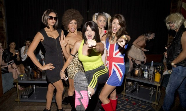 October 24: Nina Dobrev dressed as Victoria Beckham and her friends went as the Spice Girls to Matthew Morrison's Halloween party sponsored by Dos Equis and Podwall Entertainment at Hyde Sunset in L.A.