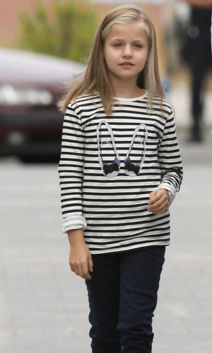 Growing up fast! Leonor showed off her casual street style in the Spanish capital, Madrid. <br>
