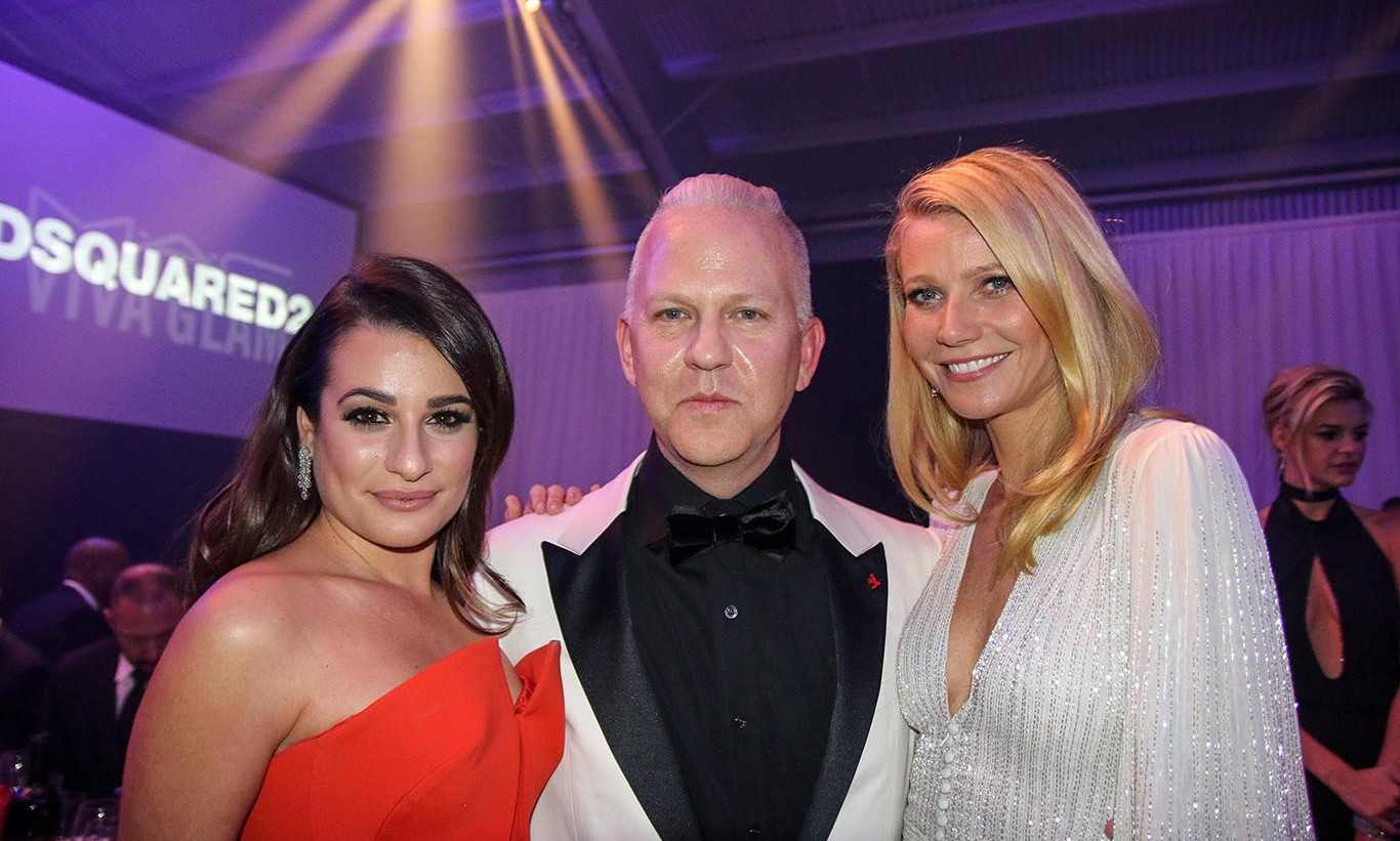 October 29: Ryan Murphy posed with Lea Michele and Gwyneth Paltrow at the sixth annual amfAR Inspirational Gala, sponsored by Harry Winston, in L.A. 