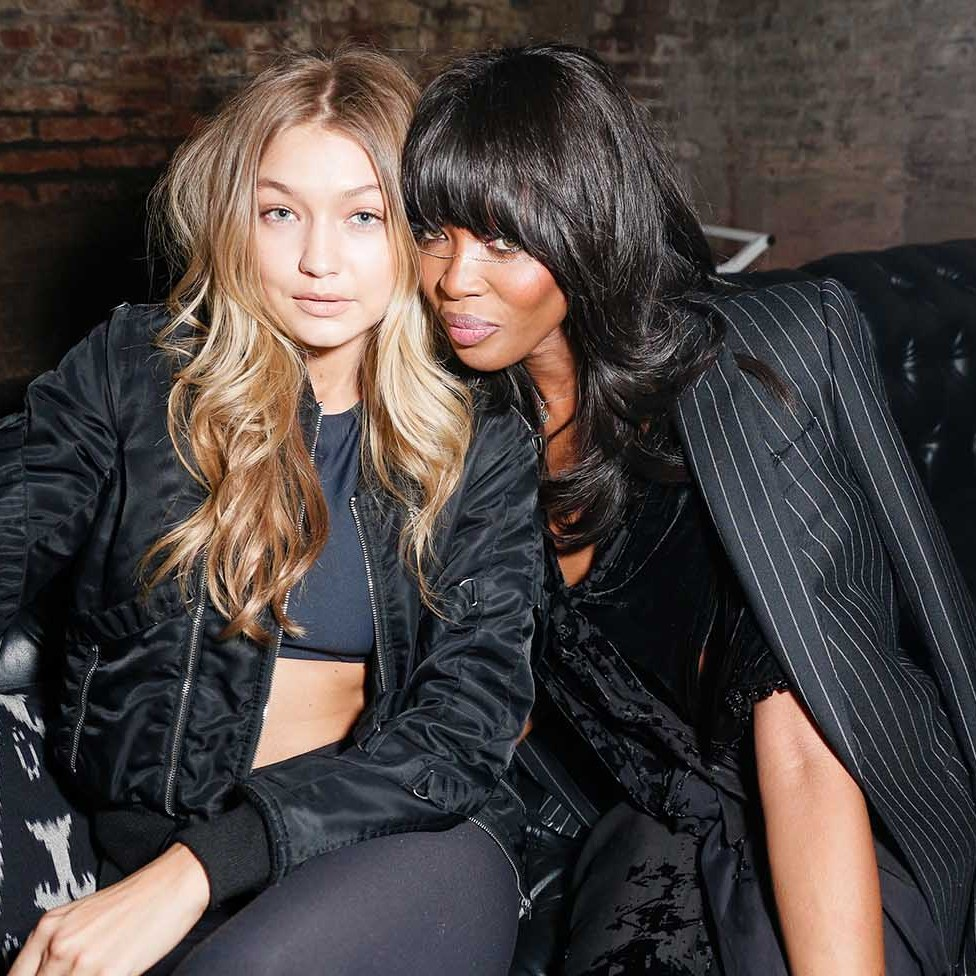 October 29: Naomi Campbell and Gigi Hadid gave the camera their fiercest looks at Lucien Smith's Macabre Suite in Bronx, New York.