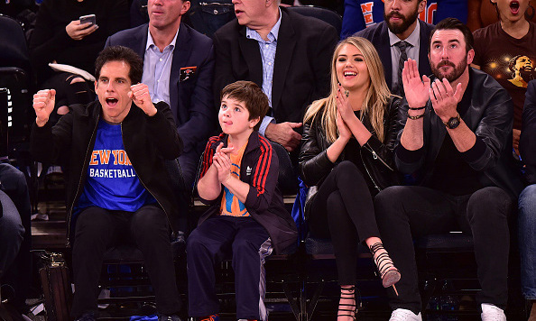 October 29: Kate Upton and comedian Ben Stiller cheered for the New York Knicks during the season opener at Madison Square Garden in New York City. 