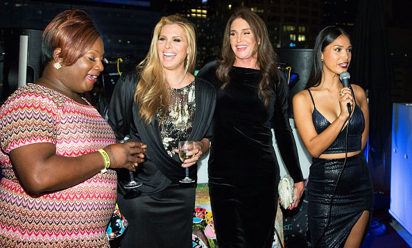 October 27: Make room for the birthday girl! Caitlyn Jenner celebrated her 66th birthday with friends Candis Cayne and Chandi Moore during Logo TV's 'Beautiful as I Want to Be' web series launch in L.A. 