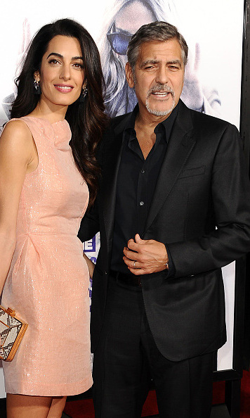October 26: George and Amal Clooney supported good friend Sandra Bullock at the 'Our Brand is Crisis' screening in Los Angeles. 