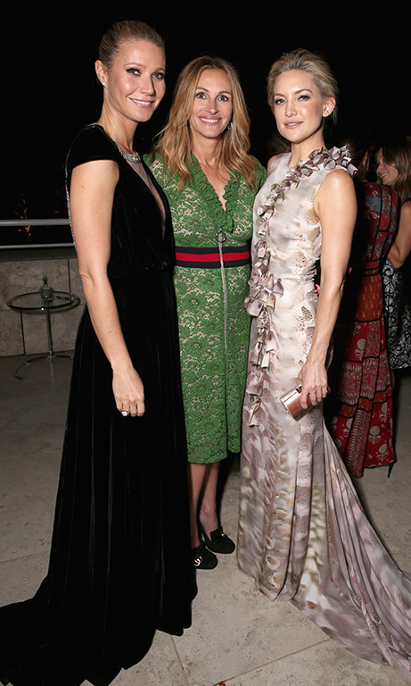October 26: Gwyneth Paltrow, Julia Roberts and Kate Hudson all looked elegant during InStyle Awards at the Getty Center in Los Angeles. 