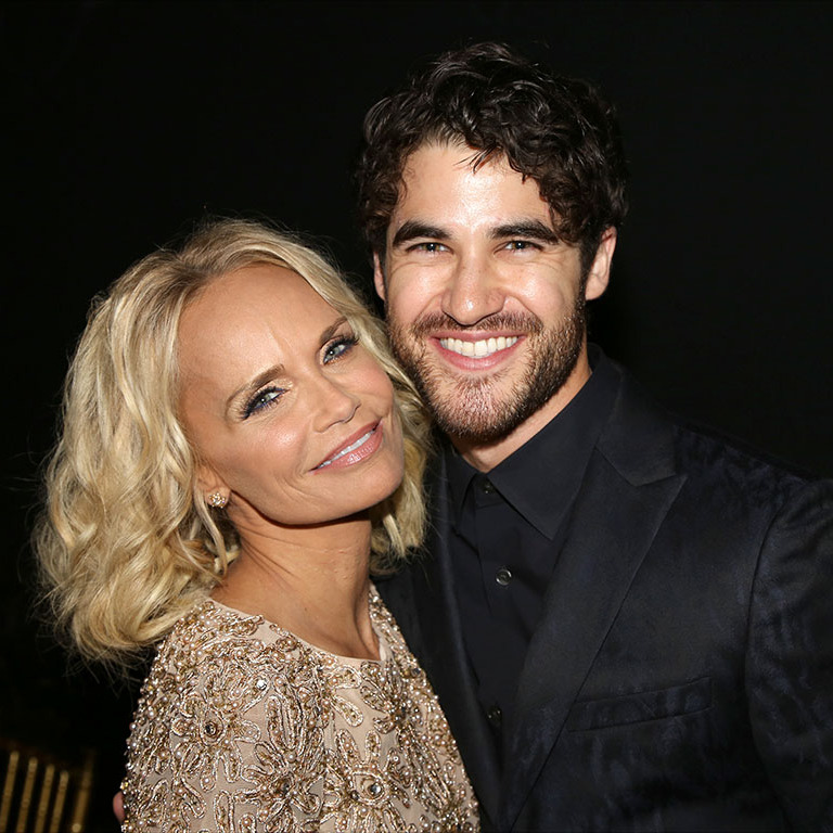 October 26: Darren Criss and Kristin Chenoweth were all smiles at the Dramatists Guild Fund annual gala in New York City. 
