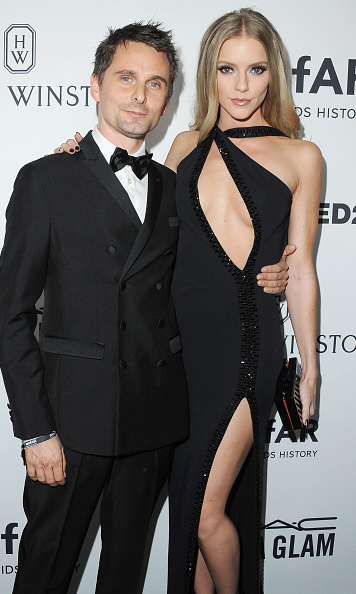 October 29: Matthew Bellamy and girlfriend Ella Evans were showstoppers at the amfAR gala in L.A.