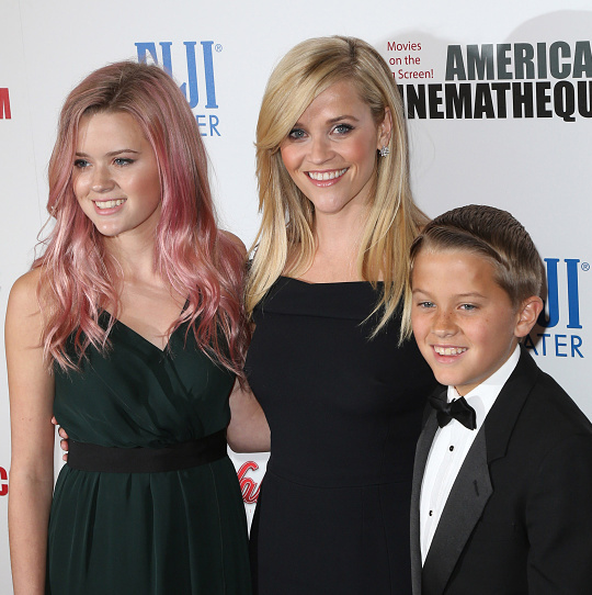 "October 30: Guest of honor Reese Witherspoon received some support from her kids Ava and Deacon Phillippe at the 29th American Cinematheque Awards at the Hyatt Regency Century Plaza in Los Angeles. ""It's great to be celebrating with them,"" she said before the gala. ""They've never really seen me in very many films so it should be sort of interesting to see their response. I know that there's going to be a lot of clips of me as a very young person. They'll be a little bit stunned!""