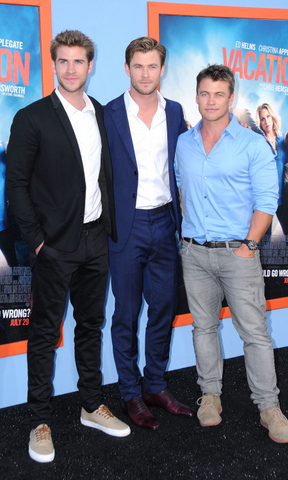 Brotherly Love! The Hemsworth brothers, Liam, Chris and Luke make a dashing trio together on the carpet.
