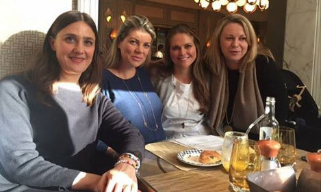 "Princess Madeleine of Sweden, second from right, was busy working for the World Childhood Foundation in London and keeping us up-to-date on her activities with this post on Facebook. ""Had a wonderful time this past week during a series of meetings here in London! So many new plans coming up. Welcoming Childhood's new Secretary General Paula Guillet de Monthoux,"" she wrote. <br>Photo: Facebook"