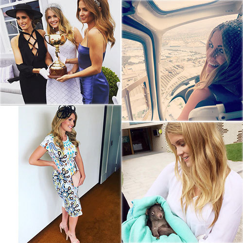 Lady Kitty Spencer had the most amazing week Down Under, meeting baby wombats at the Healesville Sanctuary, heading to the Emirates Melbourne Cup in a helicopter and witnessing Michelle Payne make history as the first female jockey to ever win the Melbourne Cup. <br>Photos: Instagram/ @kitty.spencer