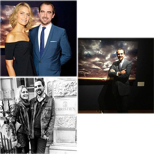 "Princess Tatiana of Greece's week was full of pride as she attended her husband Prince Nikolaos' first photography exhibition at Christie's. ""So proud!"" she said on Instagram. <br>Photos: Instagram/@tatianablatnik"
