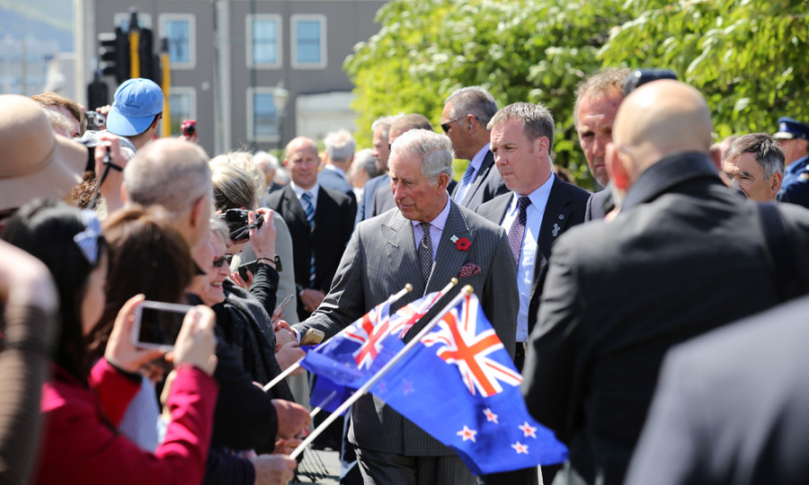 The Prince had a meet-and-greet with crowds at the  Dunedin Railway Station. <br>
