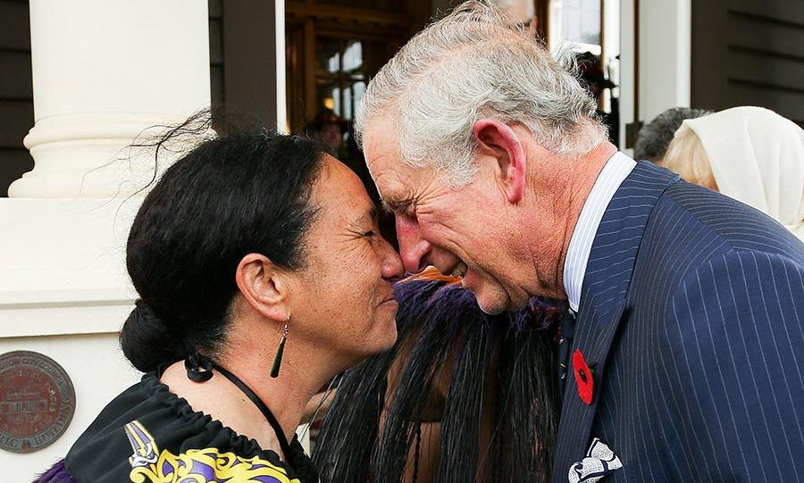 The Prince was welcomed with a traditional Kiwi greeting of the Hongi from New Zealand Defense Force Flight Sergeant Wai Paenga when he and Camilla arrived at Government House to start their tour on November 4.<br>