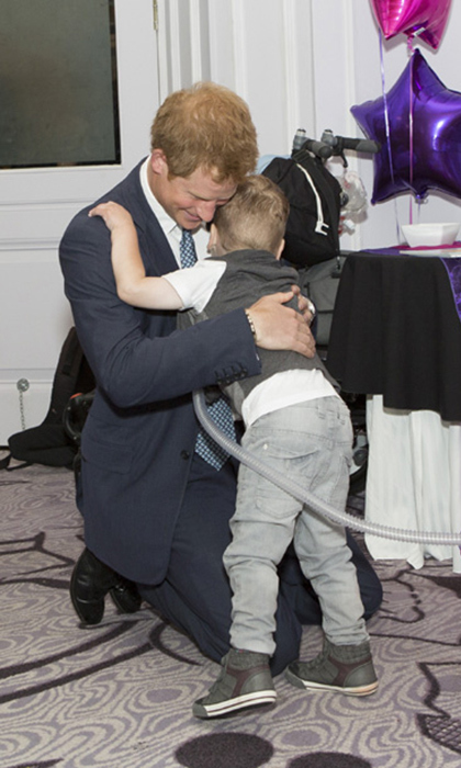 Carson Hartley, 4, and Prince Harry became quick friends at the WellChild Awards in 2014. The toddler won both a hug and the Inspirational Child Award during the exciting event, which honoured children suffering from serious diseases. Upon learning of his passing in 2015, Harry sent a heartwarming letter of condolence to Carson's family. <br>