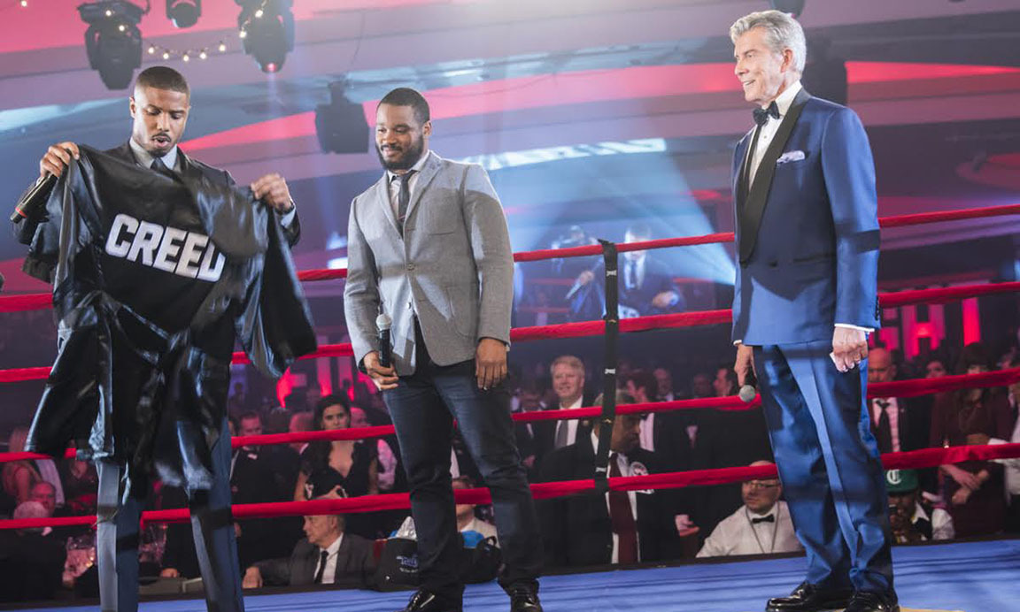 November 5: TKO! 'Creed' star Michael B. Jordan stepped into the ring during his appearance at fight night in Washington D.C.