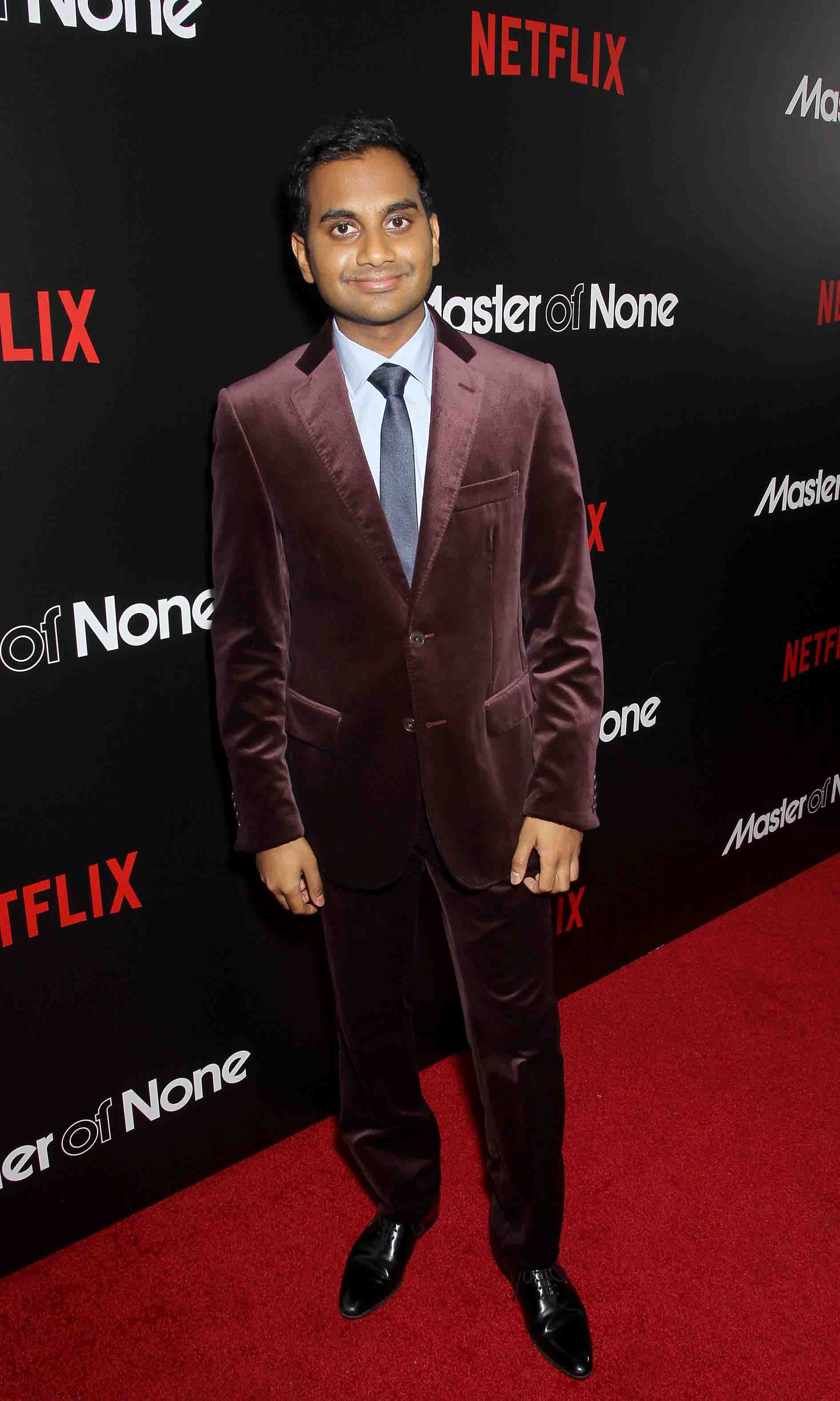 November 5: Everything is funny! Aziz Ansari celebrated the premiere of his newest show on Netflix 'Master of None' in New York City. 