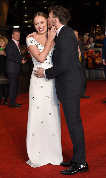 November 5: A baby mockingjay!  Sam Claflin and his wife Laura Haddock made a special pregnancy announcement during the premiere the 'Hunger Games Mockingjay Part 2' in London. 