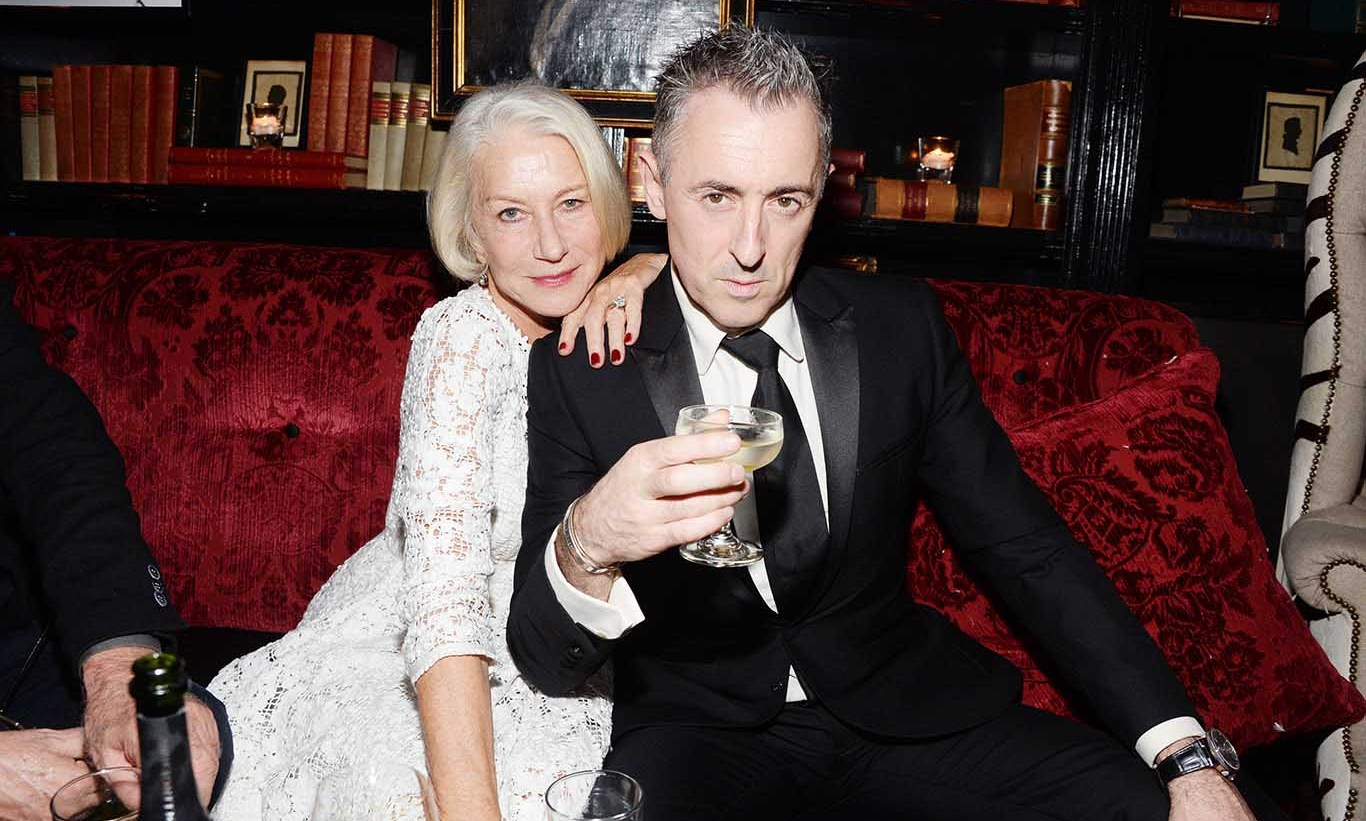 November 5: Raise a glass! Helen Mirren and Alan Cumming atteneded the 'Spectre' after party presented by Bollinger in New York City at The Lion. 