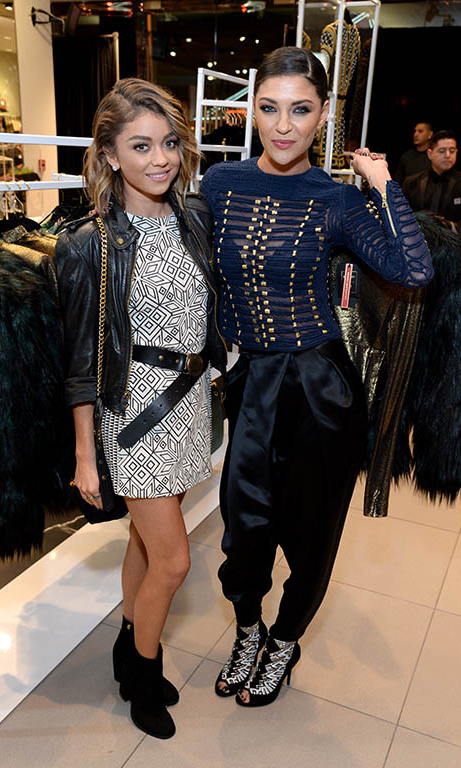 November 4: Shop til you drop! Sarah Hyland and Jessica Szohr attended the Los Angeles VIP shopping event for H&M x Balmain.