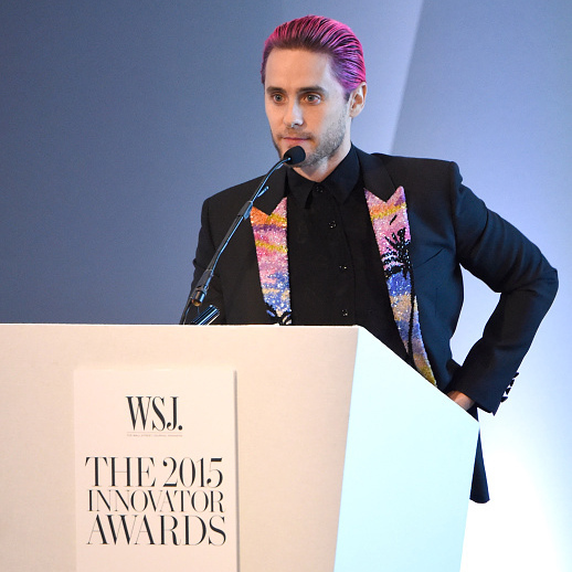 November 4: This is no joke! Jared Leto presented at the 2015 WSJ. Innovator Awards in New York City. 