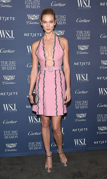 November 4: No school work here! Karlie Kloss took a photo break from classes to make an appearance at the 2015 WSJ. Innovator Awards in New York City. 
