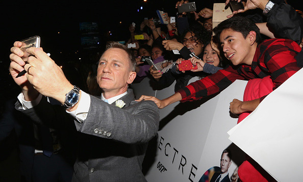 November 2: Bond, James Bond! 'Spectre' star Daniel Craig took selfies with fans during the film's Mexico City premiere.
