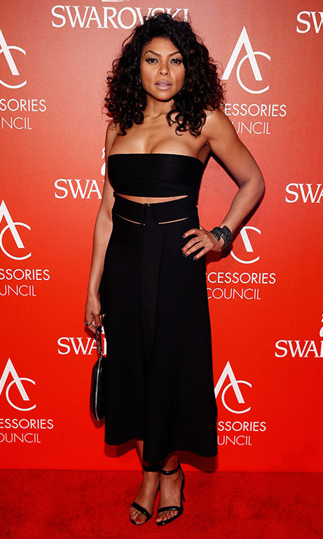 November 2: Taraji P. Henson looked fierce on the red carpet at the 2015 ACE AWARDS in New York City. 
