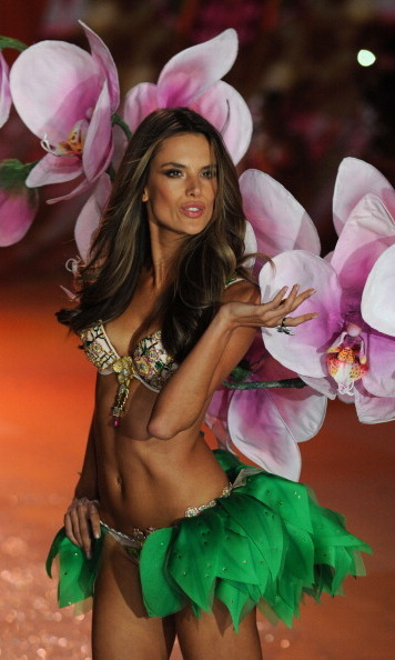 Alessandra at the 2012 VS fashion show.
