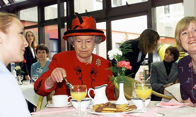 As a young adult Princess Elizabeth enjoyed a breakfast of bacon and eggs with a cup of tea. Nowadays the Queen has toast and marmalade, but she offers most of it to her corgis.<br>