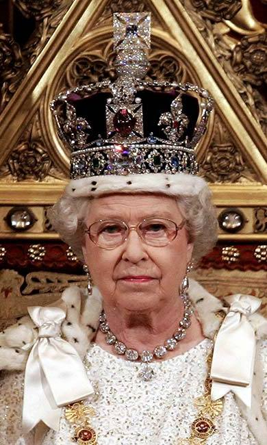 If the Imperial State Crown isn't available (it is usually on display at the Tower of London), the Queen practices for the State Opening of Parliament with a sack of flour on her head of equivalent weight. <br>