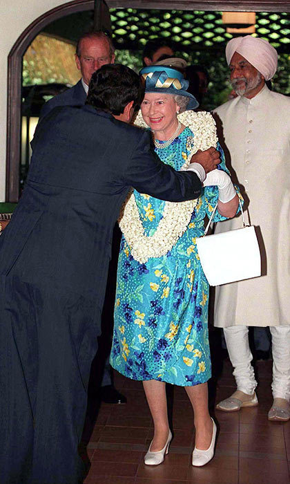 The Queen paid a visit to St. Francis Church in Cochin in 1997.