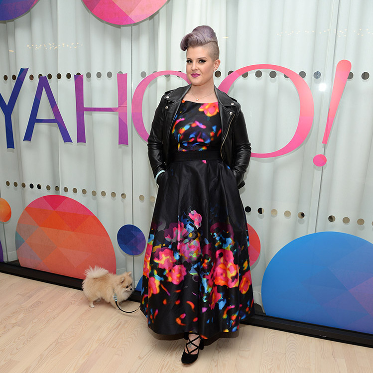 November 12: Kelly Osbourne and her pooch hung out at the Yahoo Studios in New York City. 
