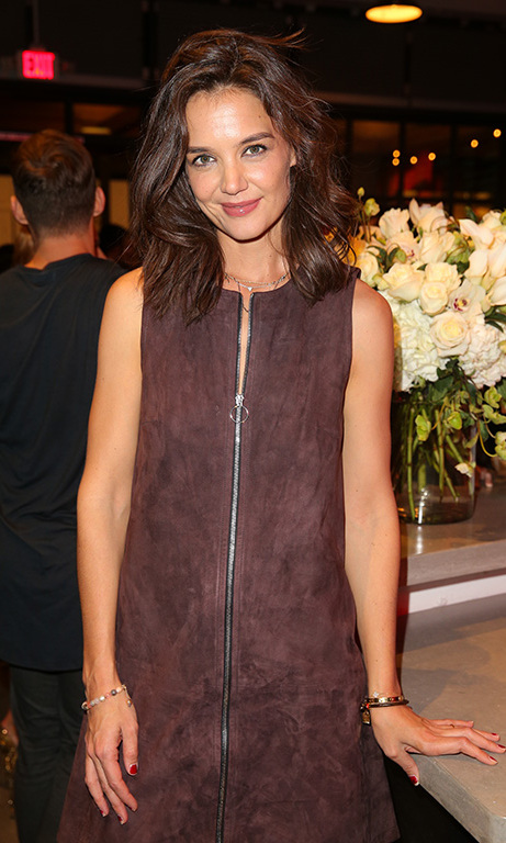 November 12: Fit and Fab! Katie Holmes celebrated the opening of Barry's Bootcamp Hollywood.