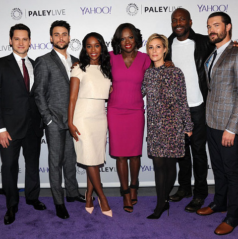 November 12: Class is in session! The cast of 'How To Get Away with Murder,' Matt McGorry, Jack Falahee, Aja Naomi King, Viola Davis, Liza Weil, Billy Brown and Charlie Weber, attended Paley Live at the Paley Center in New York City. 