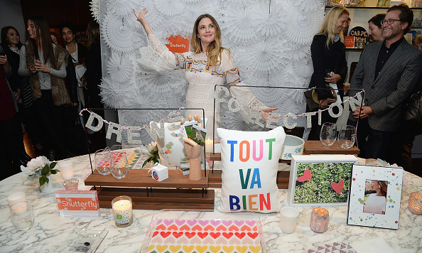 November 12: A time for decoration and celebration! Drew Barrymore unveiled her curated Shutterfly collection at a holiday gifting event at the Hudson Hotel in New York City. 