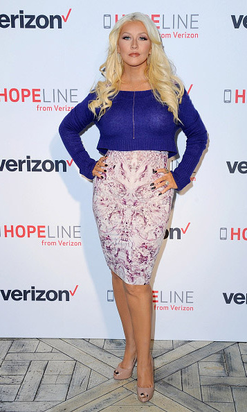 November 12: Work it Xtina! Christina Aguilera looked fierce while promoting the Verizon HopeLine aimed toward bringing awareness to domestic violence at the London Hotel in West Hollywood. 