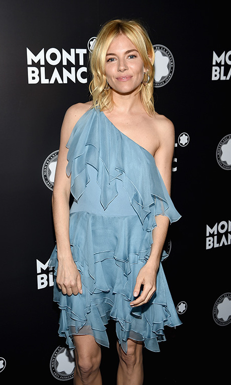 November 10: Sienna Miller attended the Montblanc de la Culture Arts Patronage Awards in New York City. 
