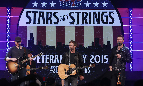 "November 11: Eric Paslay and Charles Kelley surprised  Dierks Bentley during his appearance on CBS Radio's Stars and Strings, the trio treated the audience to a performance of ""The Driver."" 