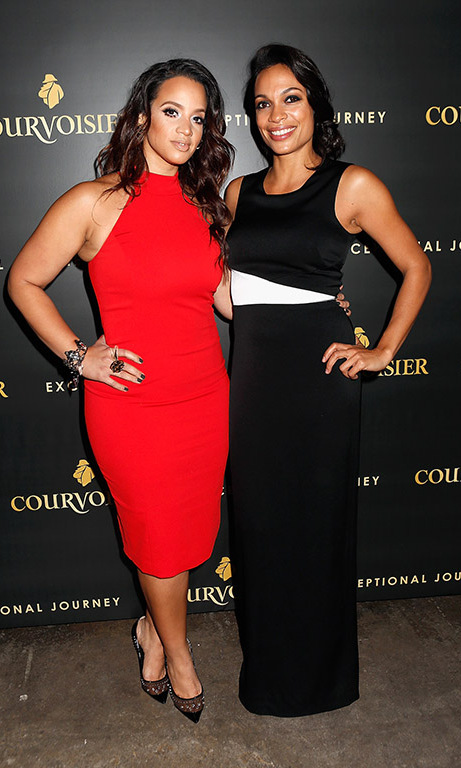 November 11: Rosario Dawson and 'Orange is the New Black's' Dascha Polaco were dressed to impress during Courvoisier's Exceptional Journey campaign event in New York City.