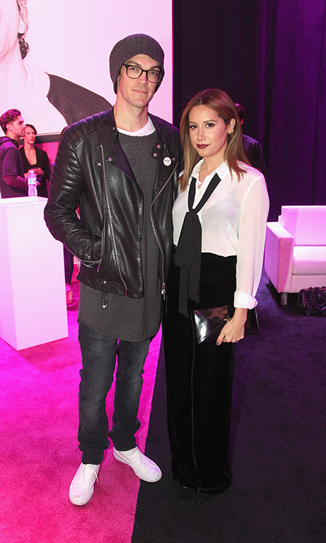 November 10: Date night! Ashley Tisdale-French and husband Christopher French watched Bruno Mars at the T-Mobile  Un-Carrier X launch party and concert at the Shrine Auditorium in Los Angeles. 