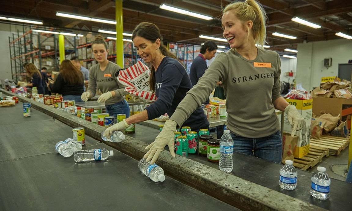 November 9: 'Saints and Strangers' star Anna Camp volunteered at the Region Food Bank in Los Angeles. 