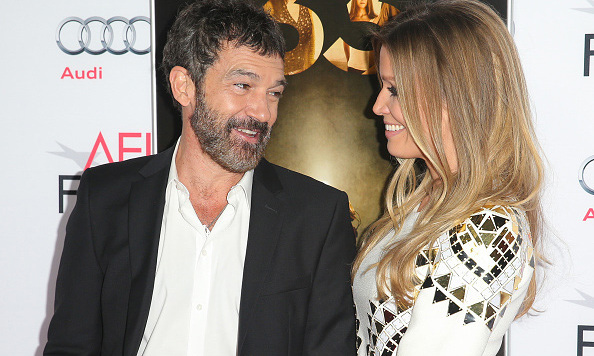 November 9: How cute! Antonio Banderas and his girlfriend Nicole Kimpel attended the Centerpiece Gala premiere of  'The 33' at TCL Chinese Theatre in Hollywood. 