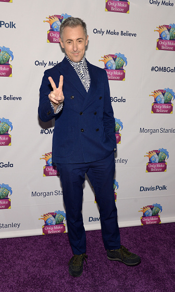 November 9: Peace and love! Alan Cumming was honored at Only Make Believe's gala in NYC.