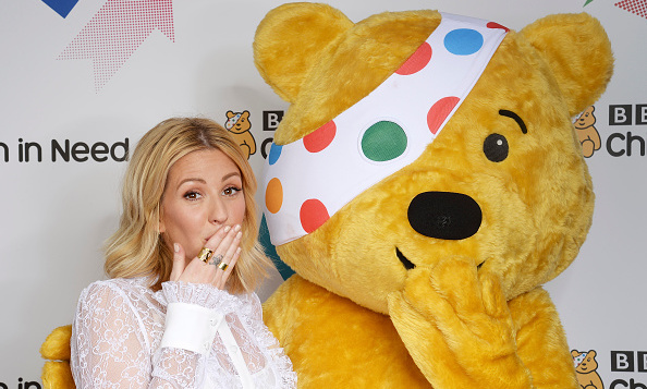 November 13: Pop singer Ellie Goulding jetted back to England from her Victoria's Secret show performance in New York City, cuddling up to a fuzzy pal at the BBC Children in Need charity event. <br><br>