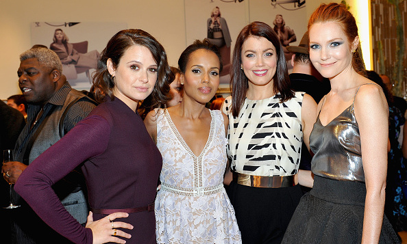 November 14: The ladies of 'Scandal' Katie Lowes, Kerry Washington, Bellamy Young and Darby Stanchfield came together at the MaxMara boutique in Beverly Hills with Allure to celebrate ABC's #TGIT.